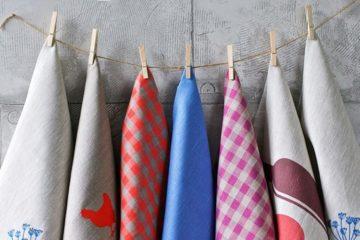 Полотенца для кухни из натурального льна
