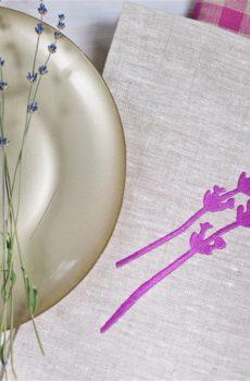 Набор полотенец Лаванда(Lavender kitchen towels set) - ViaLino