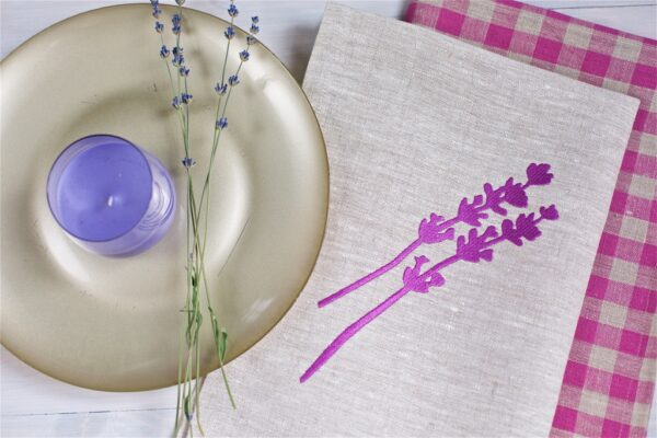 Набор полотенец Лаванда (Lavender kitchen towels set) - ViaLino