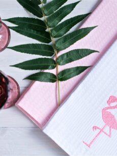Набор кухонных полотенец «Фламинго» ViaLino